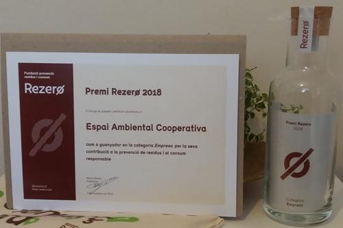 Espai Ambiental Cooperativa rep el premi empresa de Rezero